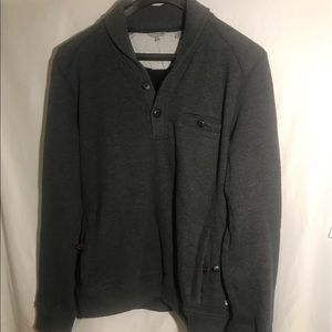 Ted Baker Gray pullover sweater 1/3 button down